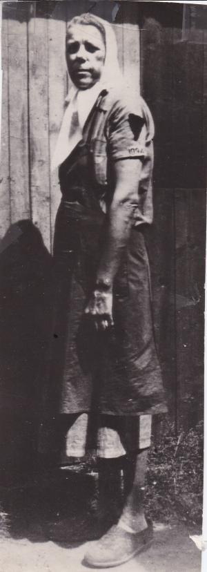 Martha après sa libération par la Croix Rouge Danoise