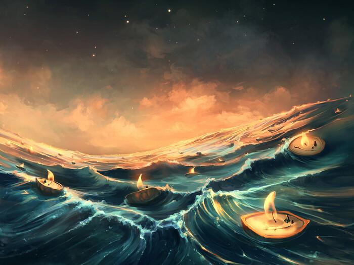 Les illustrations fantastiques de Cyril Rolando inspirées des univers de Burton et Miyazaki