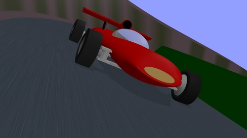 Scène de l'auto de course