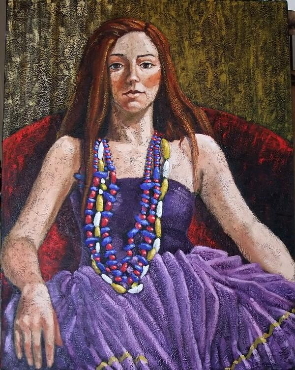 Jeudi - Un coup d'oeil dans le rétro : Jeune fille en violet