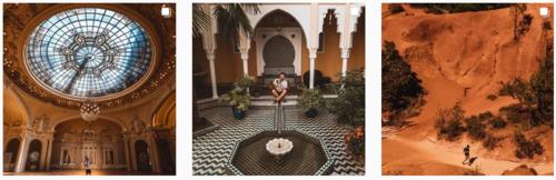 Les voyages sur Instagram