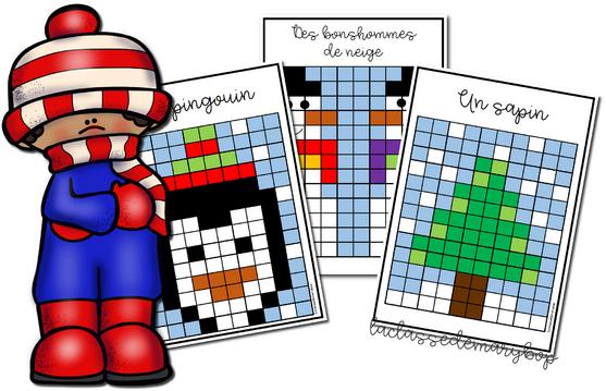 Pixel Art d´hiver.