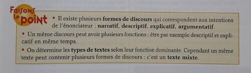 Reconnaître les différents types de texte
