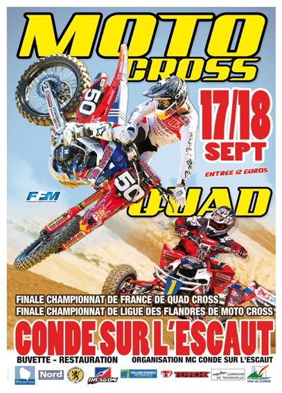 Championnat 2016 motos et quads , à Condé-sur-l'Escaut
