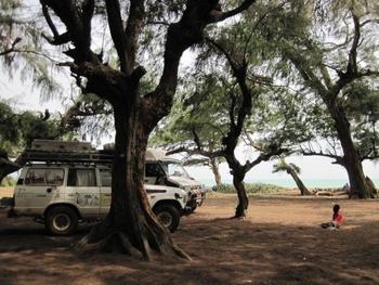 Bénin Agoué repas au bord de l'océan