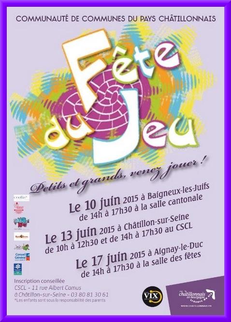 """La """"Fête du Jeu"""" aura lieu au CSCL de Châtillon sur Seine"""