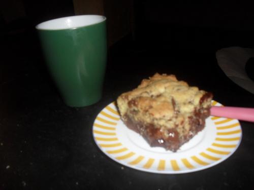 Et pour finir, une petites gourmandise un Browkies (mix entre brownies et cookies)