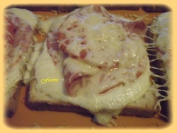 Pain de mie jambon/bacon