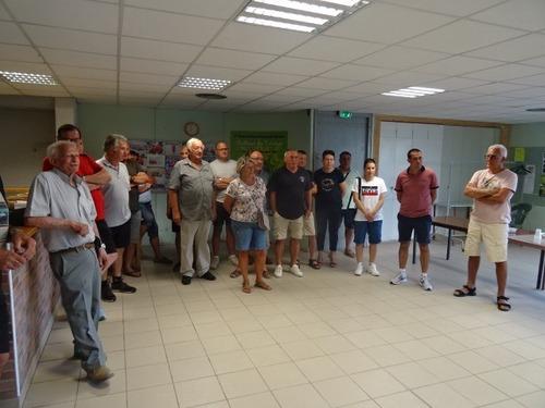 Reception pour le championnat de France Qudrette à villeneuve de berg