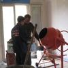 Mise à niveau par plot au mortier pour la réalisation des chapes maigre (4)