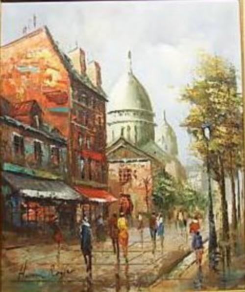 Henri Royer Vue sur Montmartre