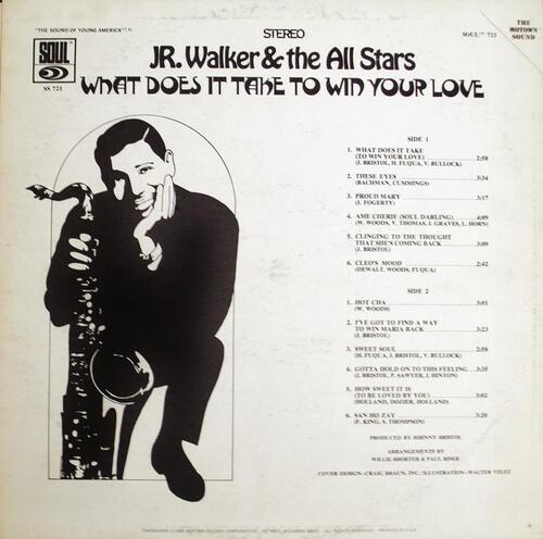 "Jr. Walker & The All Stars : Album "" What Does It Take To Win Your Love "" Soul Records SS 721 [ US ]"