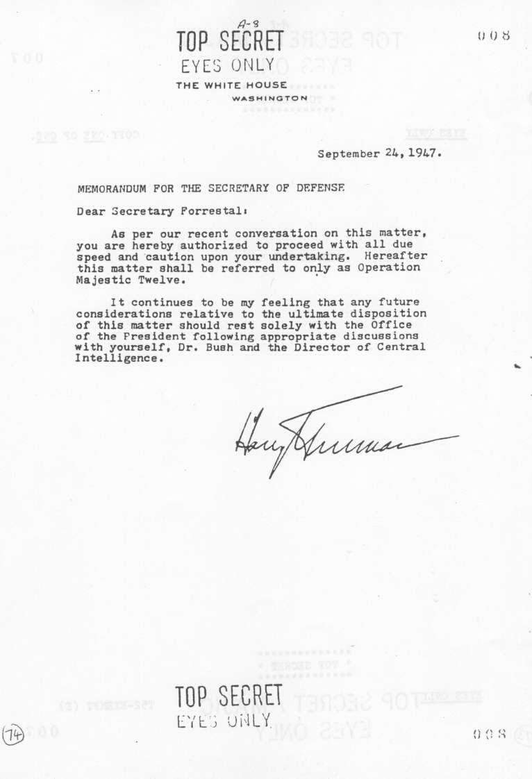 Page 8 - MJ12 - Un comité d'étude des phénomènes OVNIS - Ufologie