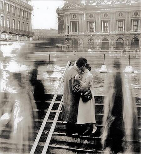 Les baisers d'étudiants de Robert Doisneau (1950)