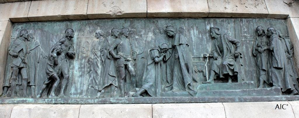 Christophe Colomb accueilli par Isabelle de Castille et Fernand d'Aragon