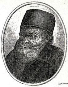 Tableau représentant Nicolas Flamel.