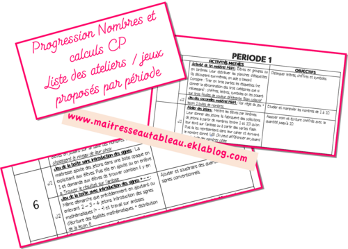 Progression semaine par semaine maths CP