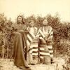Chief Spotted Tail (Siŋté Glešká) with wife and daughter. Brulé Lakota.1876.  by J. Morrow.