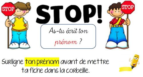 Stop prénom version 2013