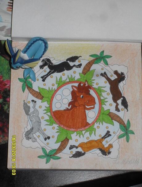2ème mandala chevaux