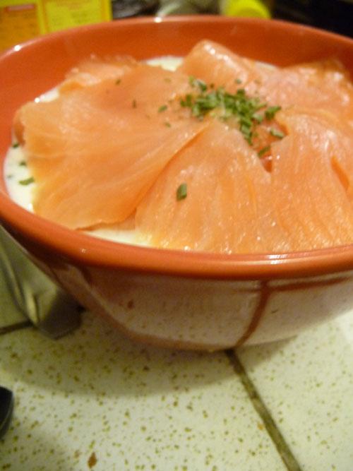 saumon poireaux dukan