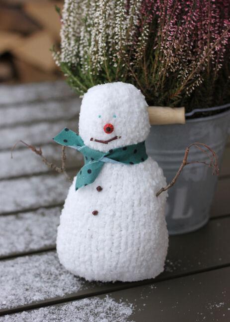 Un bonhomme de neige comblé