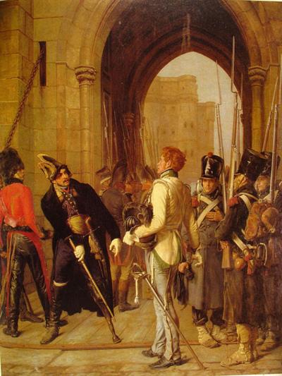 File:Le général Daumesnil refuse de livrer Vincennes (huile de Gaston Mélingue, 1882).jpg