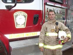 La direction du service incendie