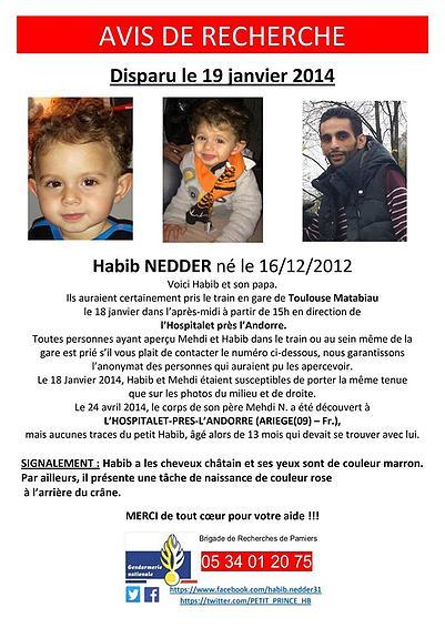 Pas d'Alerte Enlèvement pour le petit Habib ?