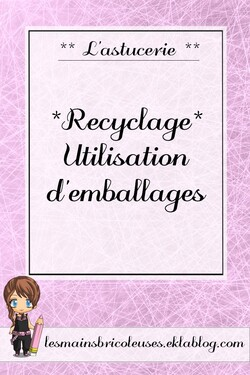 *Recyclage* Utilisation d'emballages
