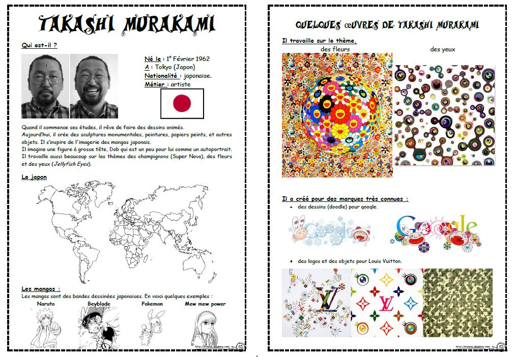 Coloriage Fleur Britto.Fleurs A La Maniere De Takashi Murakami Dix Mois