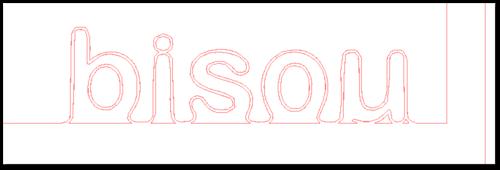 Tuto : inscruter un mot dans une forme (polaroid bisous)