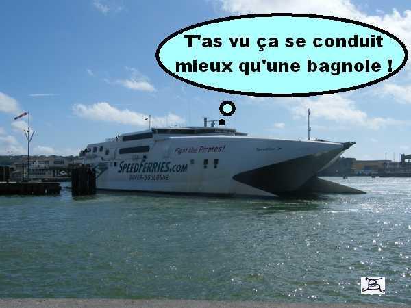 Humour avec balade à Boulogne sur Mer et des canes .