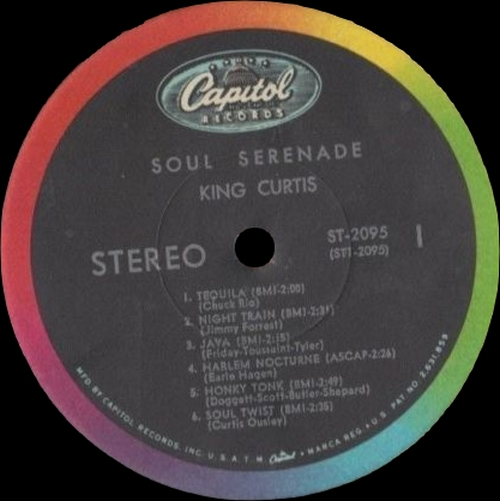 "King Curtis : Album "" Soul Serenade "" Capitol Records ST-2095 [ US ]"