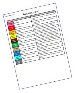 Ceintures de calcul CM1