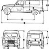 Renault 4 fourgonnettes longues F6
