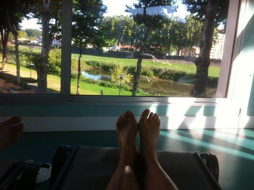 vue sur l'Adour depuis la salle de repos