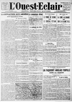 L'Ouest-Eclair, 26 mars 1916