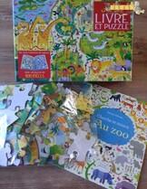 Coffret au zoo (livre + puzzle de 100 pièces)