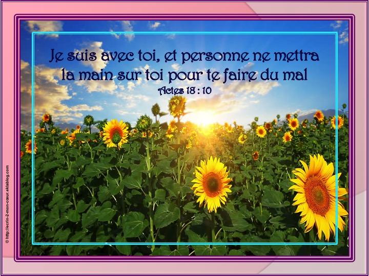 Je suis avec toi - Actes 18 : 10