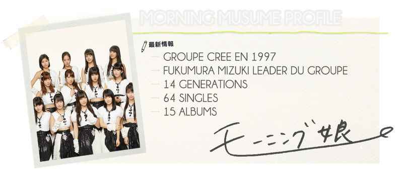 BIOGRAPHIE DES MORNING MUSUME
