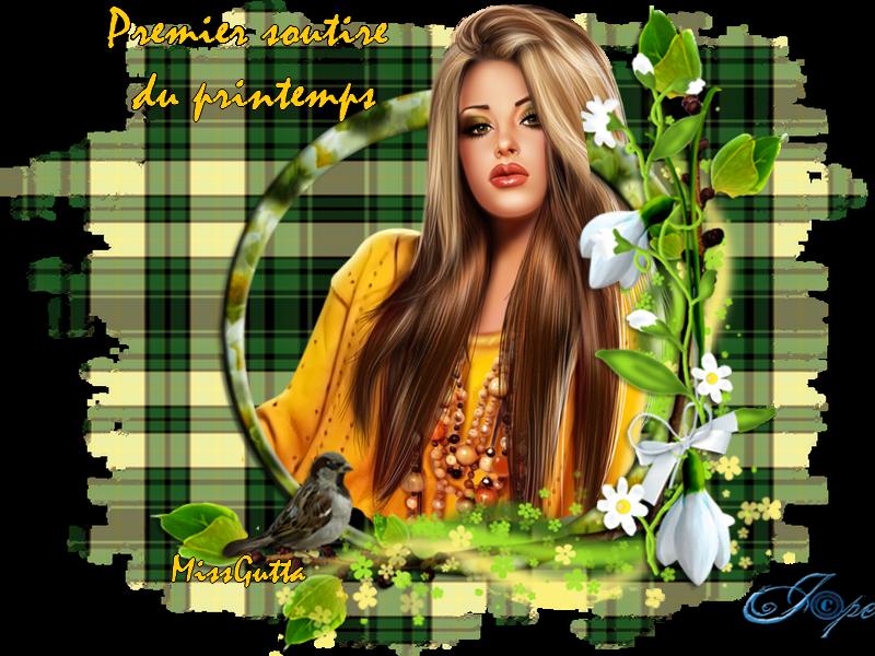 """Pour amie Marjolaine """" Premier sourire du printemps """""""