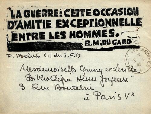 Carte 50 /  08/03/1940