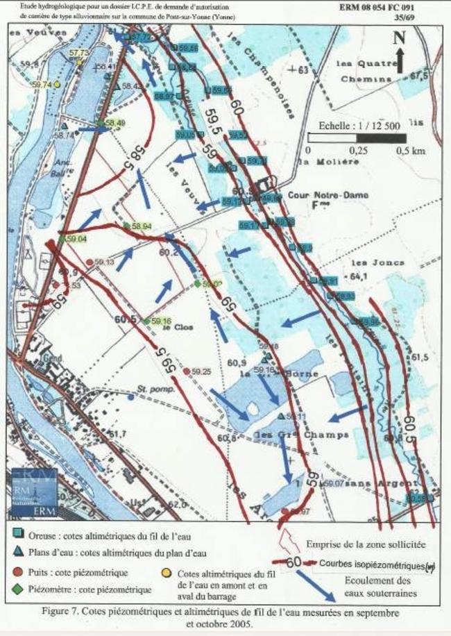 Annexe 8: isopièzes 2008