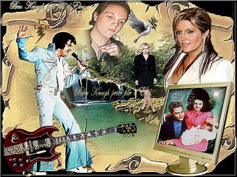 Elvis Presley et ses petits enfants dommage qui ne les a pas connus