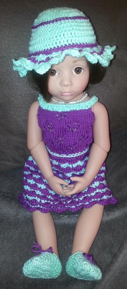 Robe tricot crochet pour Ottilia