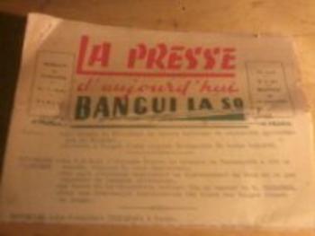 Revue ancienne La Presse de Bangui - 1962