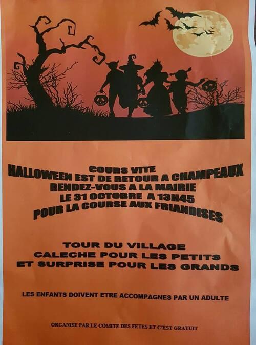 Une calèche ... Des bonbons ... Halloween ...