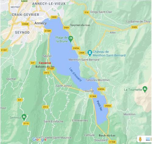 Autour du lac d'Annecy : carte et sommaire