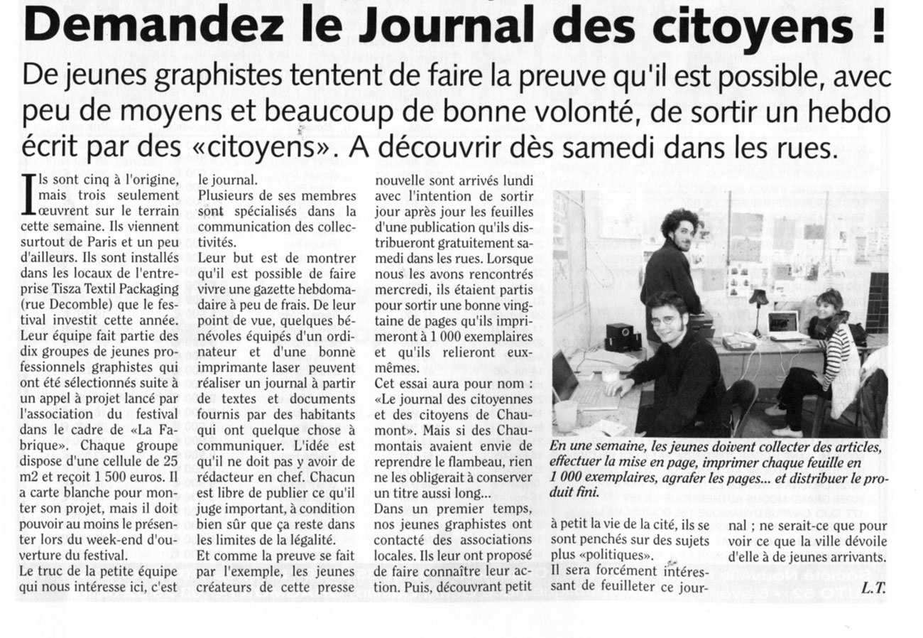 Organiser son article pavillon blanc - Comment creer un journal ...